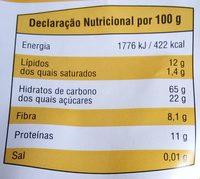 Crunchy Granola - Meusli Croustillant - Informação nutricional