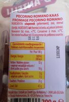 Pecorino Romano Dop - Informations nutritionnelles - fr