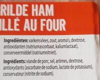 Jambon grillé au four - Ingrediënten - fr