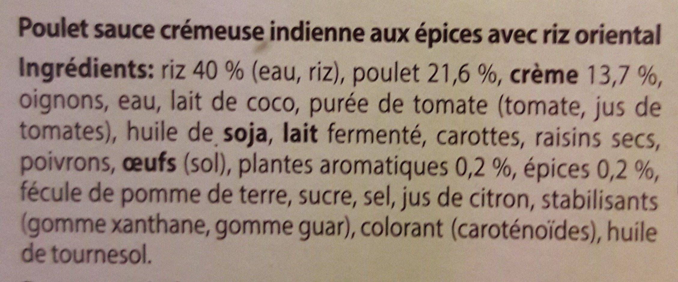 Tikka Massala - Ingrediënten - fr