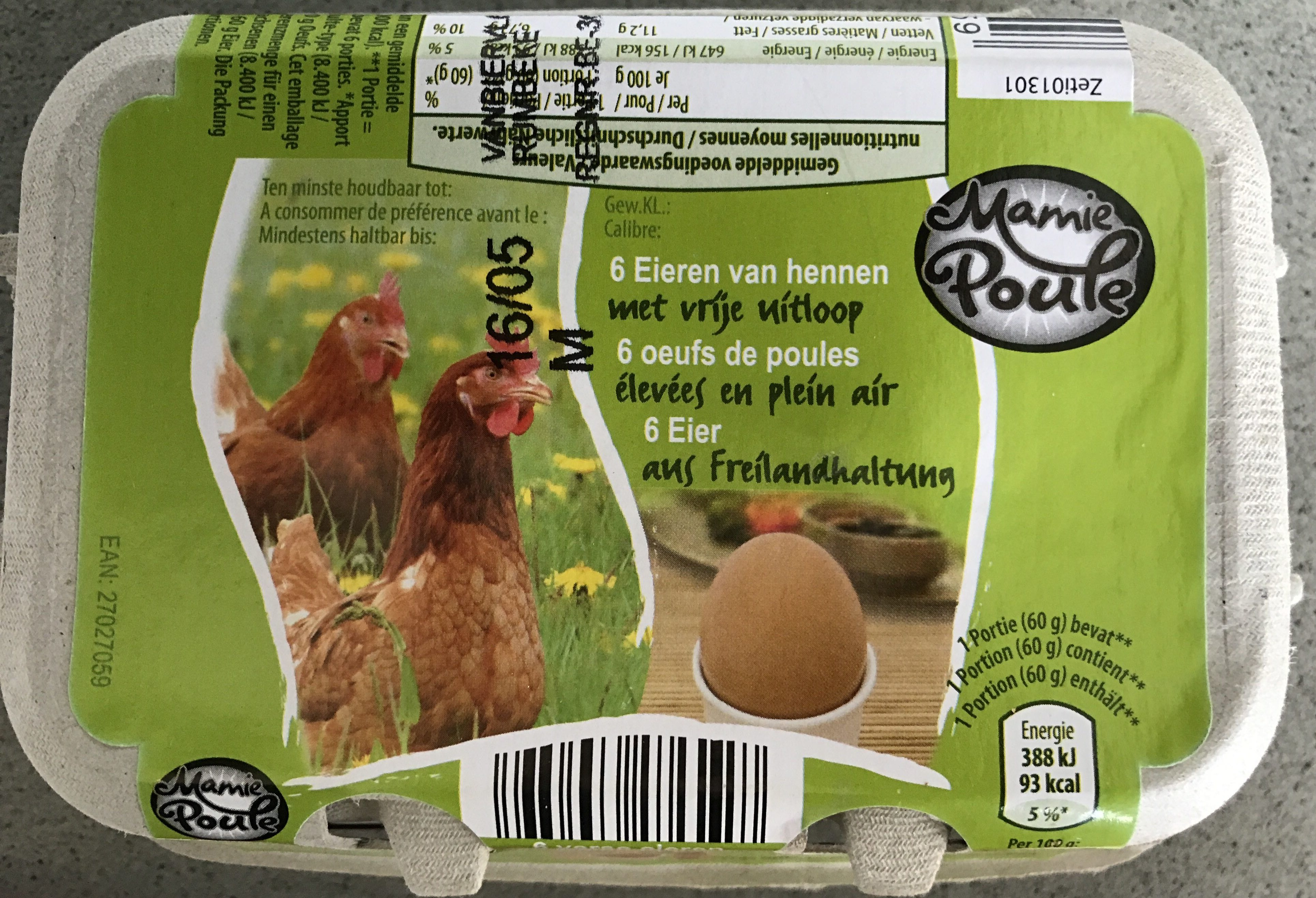 6 oeufs de poules élevées en plein air - ALDI - Product - fr