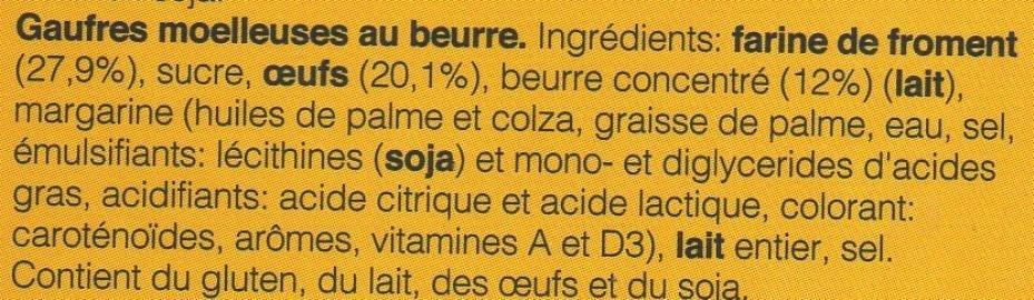 Gaufres Moelleuses - Ingrediënten