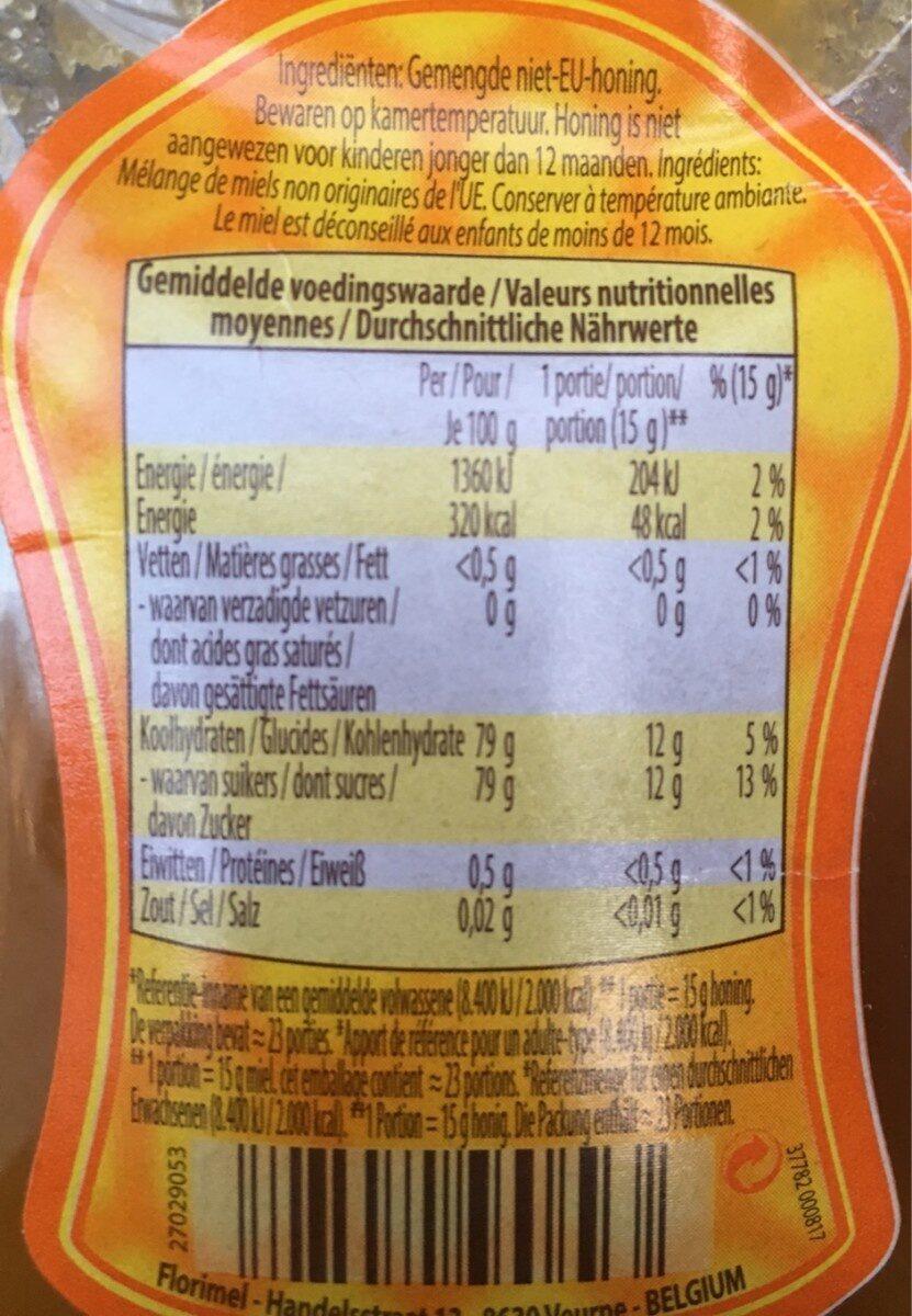 Miel Liquide - Ingredients