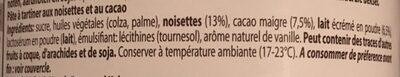 Delinut - Ingrediënten - fr