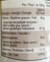 Duo - Voedingswaarden - nl