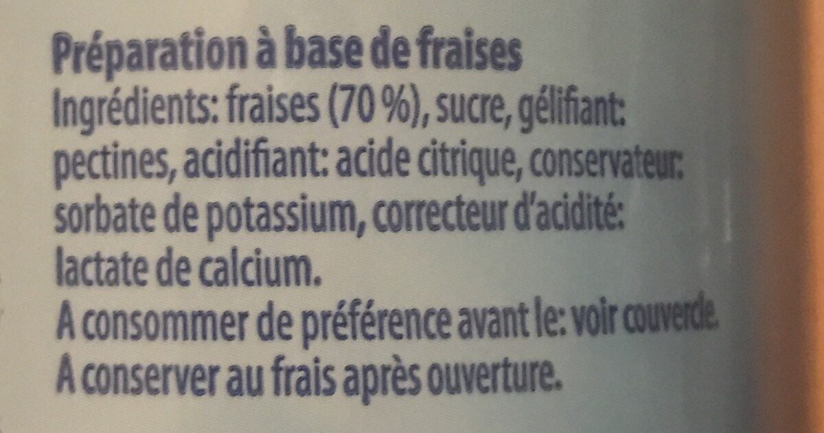 Confiture Fraises Light - Ingrediënten - fr