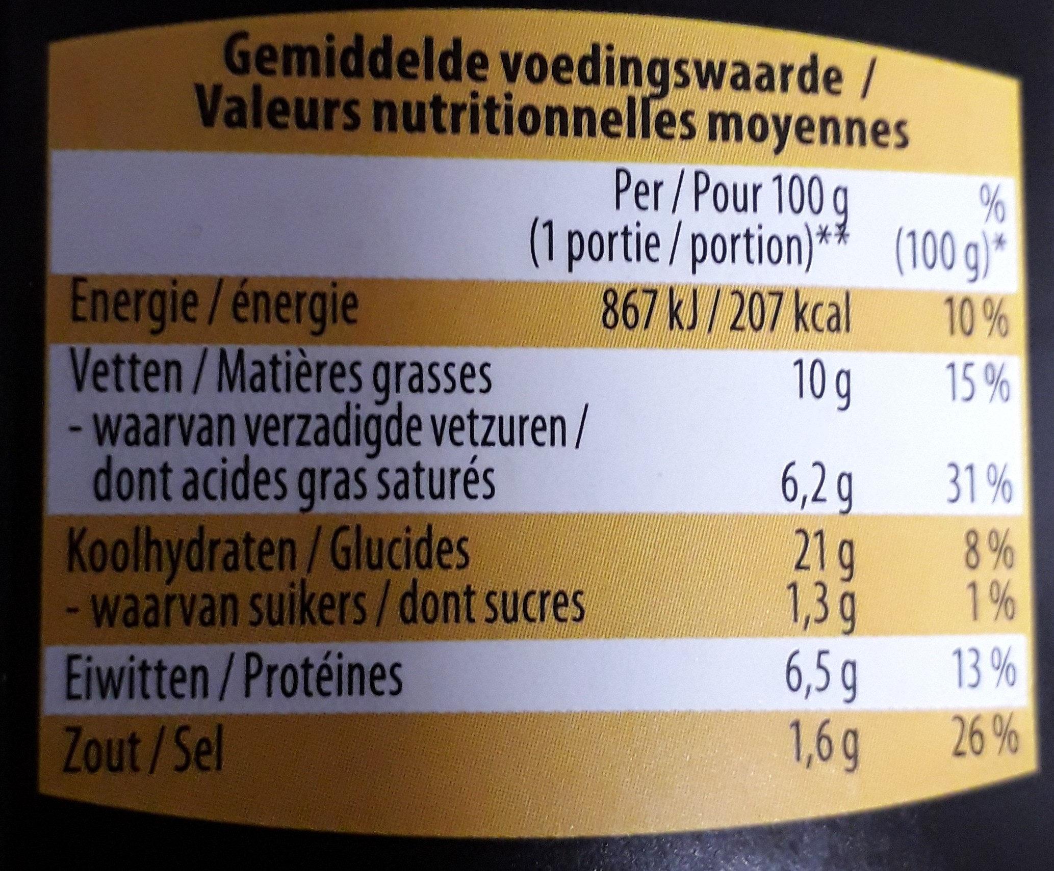 Croquette de fromage - Voedingswaarden - fr