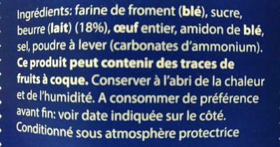 Gaufrettes fines au beurre - Ingrediënten - fr