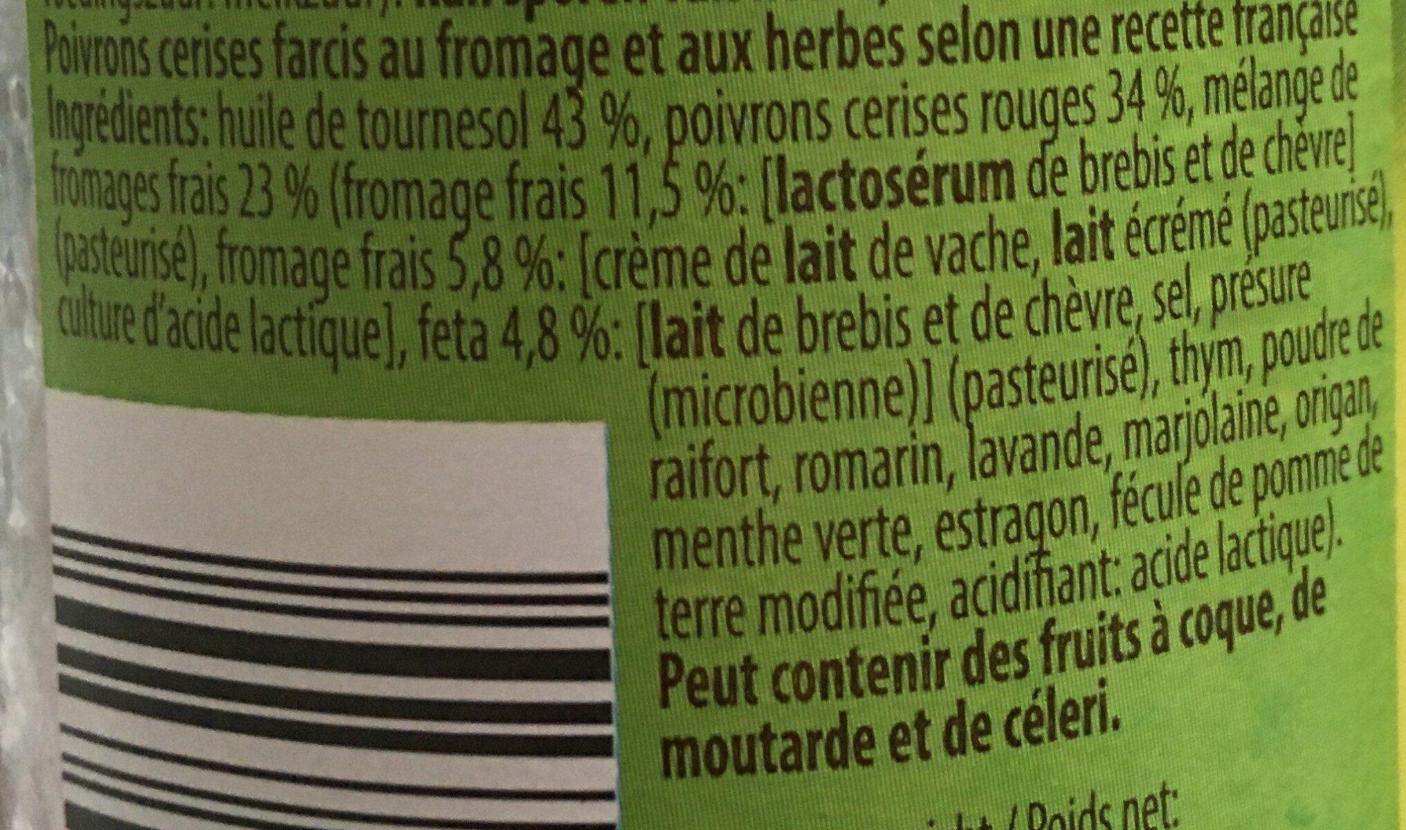 Poivrons cerises - Ingrediënten - fr