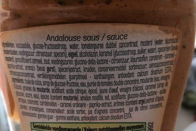 Sauce Andalouse - Ingrediënten