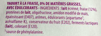 Milsani - Ingrédients - fr