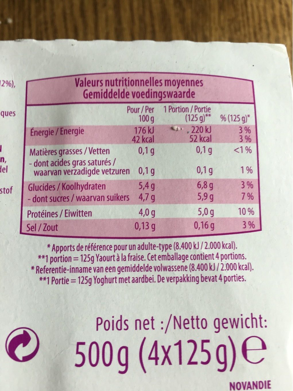 Milsani - Informations nutritionnelles - fr