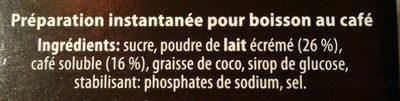 Type Cappuccino Classico - Ingrediënten