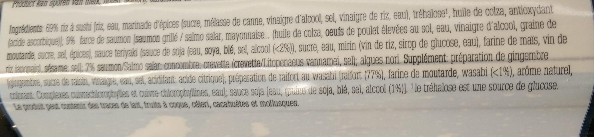 Sushi Box Sunakku - Ingrediënten - fr