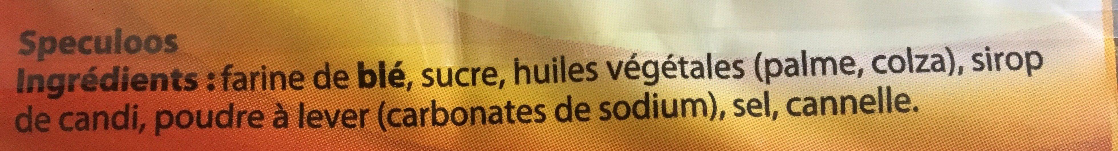 spéculoos - Ingrédients - fr