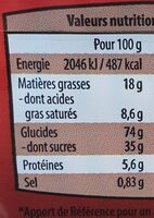 Speculoos - Informations nutritionnelles - fr
