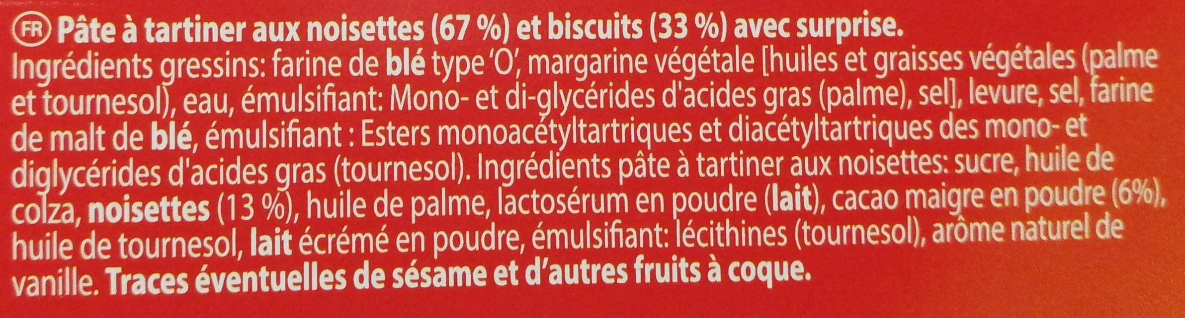 Snack'n play - Ingrediënten - fr