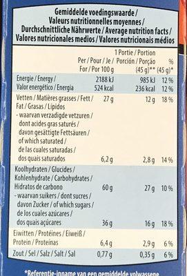 Snack'n play - Voedingswaarden - fr