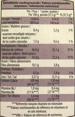 Fruitbiscuits céréales - Información nutricional - fr