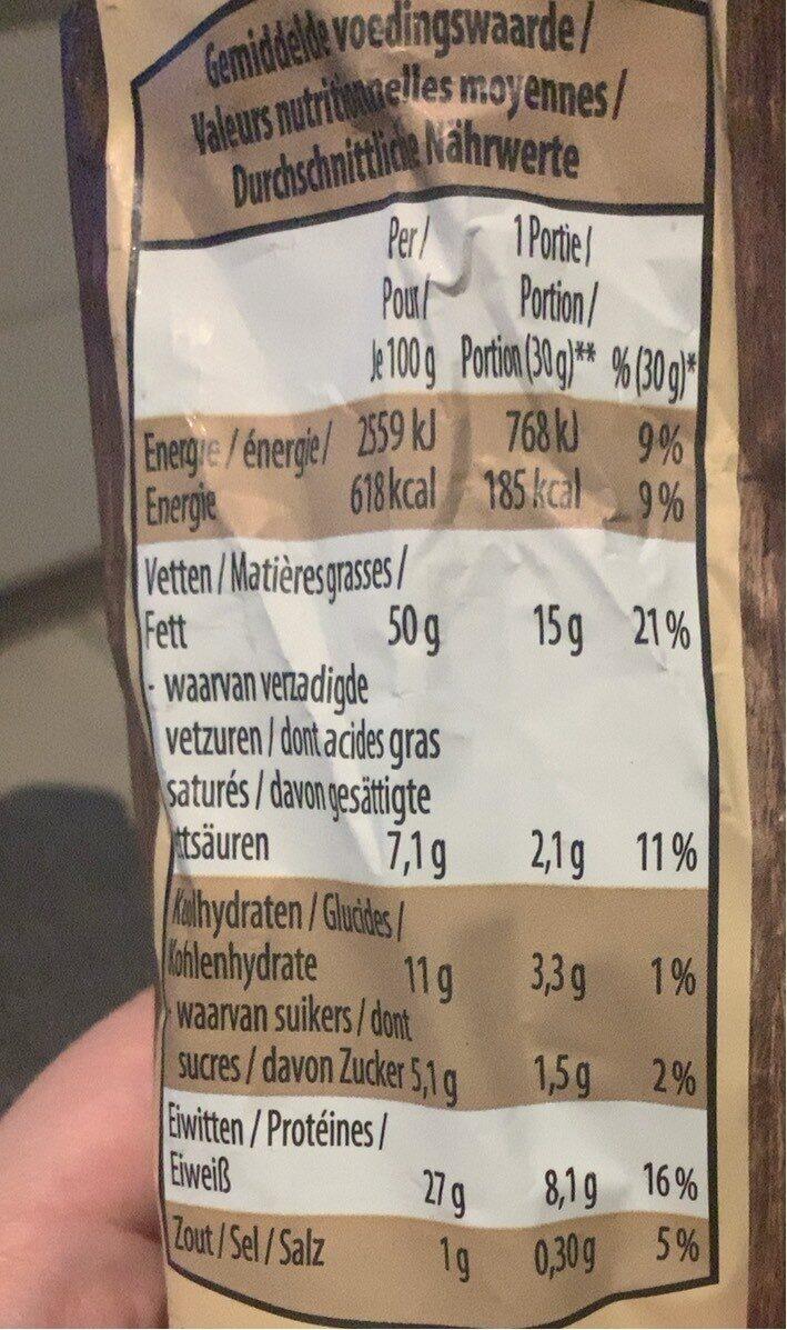 Peanuts - Voedingswaarden - fr