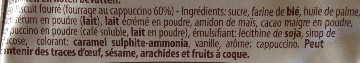 Wafer rolls cappuccino - Ingredients - en
