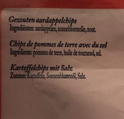 Chips sel - Ingrédients - fr