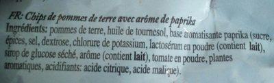 Chips paprika - Ingrédients - fr