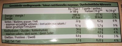 Biscuit Bio à l'avoine - Nutrition facts - de