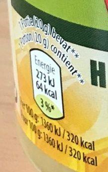 Miel Crémeux - Informations nutritionnelles