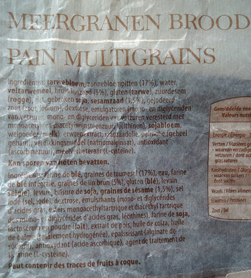 Pain Multigrains - Ingrediënten - fr