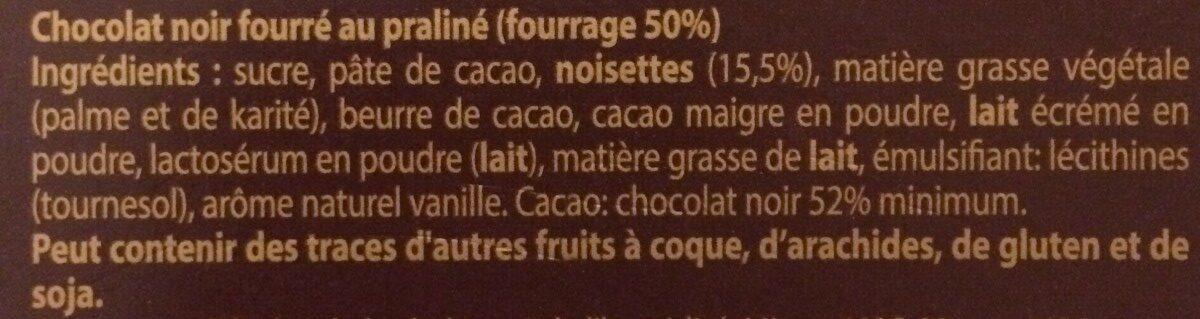 Praliné intense - Ingrédients - fr