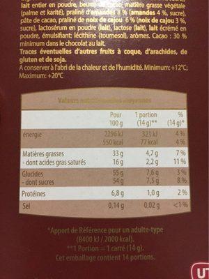 Praliné intense - Informations nutritionnelles - fr
