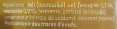 Gouda Moutarde et Fénugrec - Ingrédients - fr