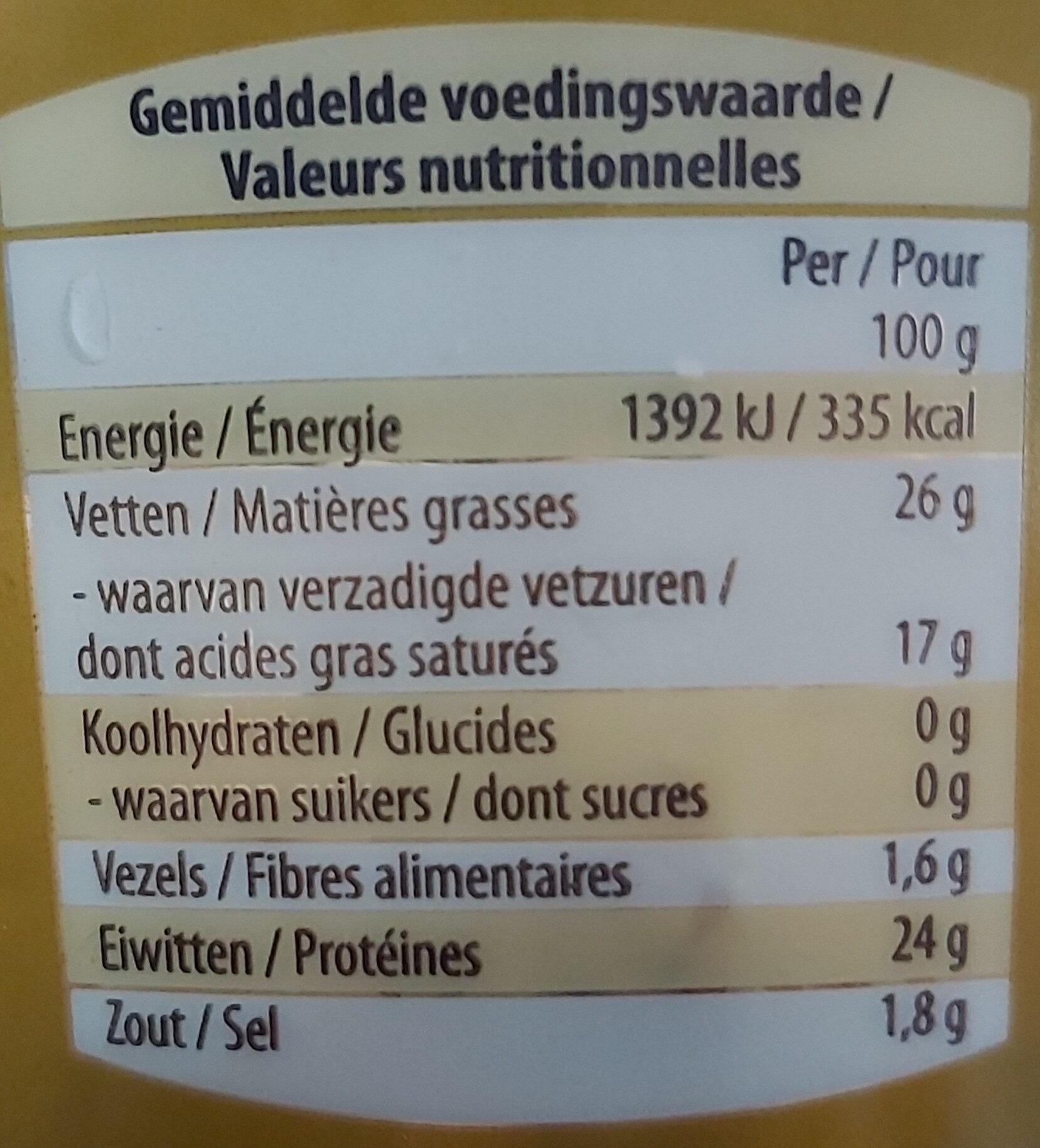 Gouda Moutarde et Fénugrec - Informations nutritionnelles - fr