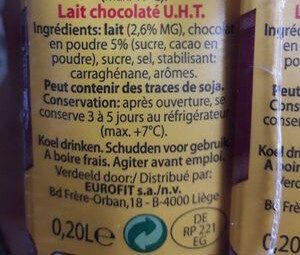 Choco melk - lait - Ingrediënten - fr