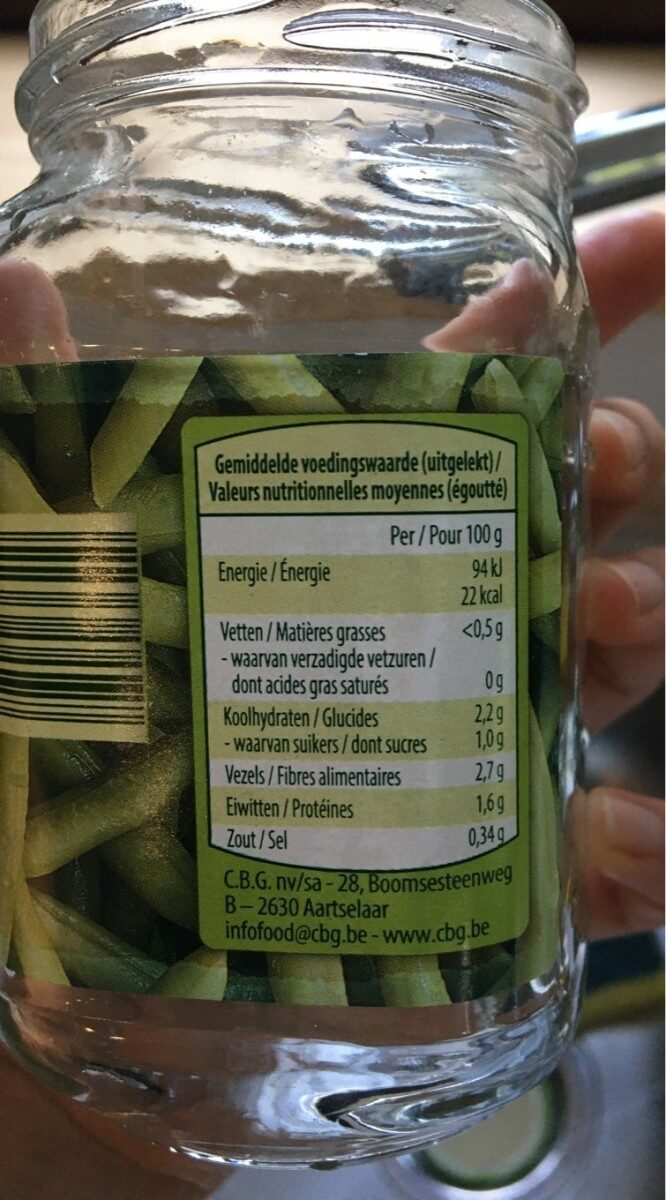 Haricot vert - Crown - Voedingswaarden - fr