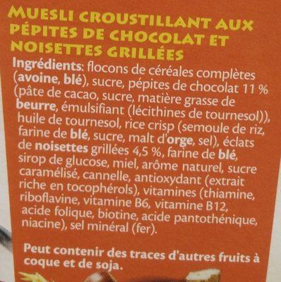 Choco Crunchy - Ingrediënten - fr