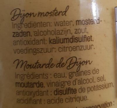 Moutarde de Dijon, Dijon mosterd - Ingrediënten - nl