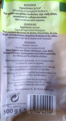 QUINOA - Ingrédients - fr