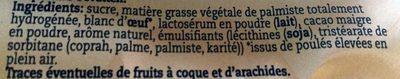 Merenges - Ingrédients - fr