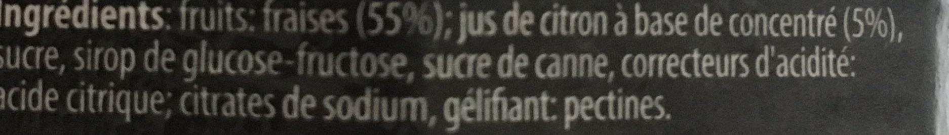 Confiture Extra de Fraise - Ingrediënten - fr