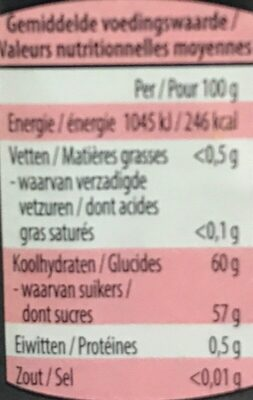 Confiture Extra de Fraise - Voedingswaarden - fr