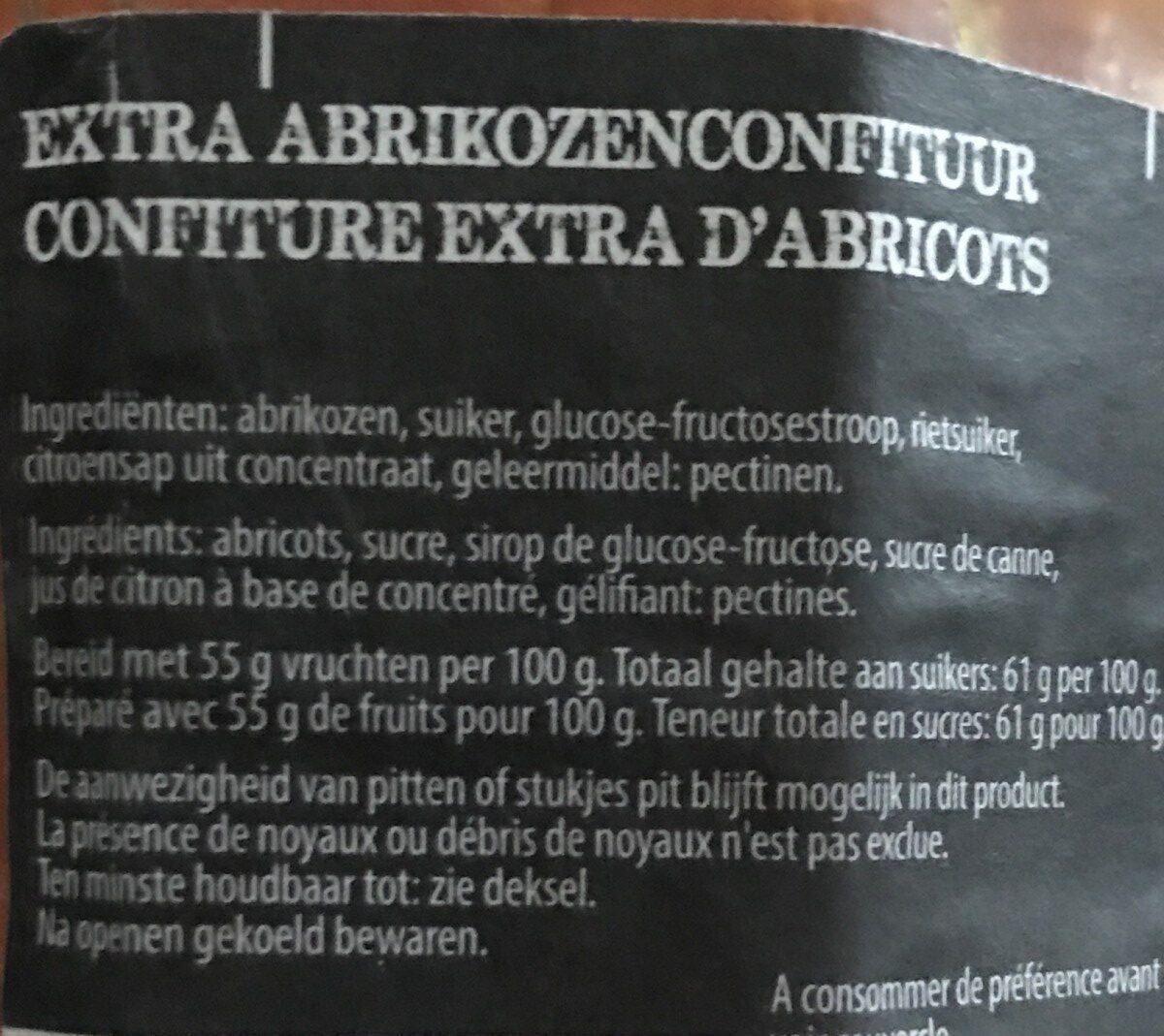 Abricots - Ingredients