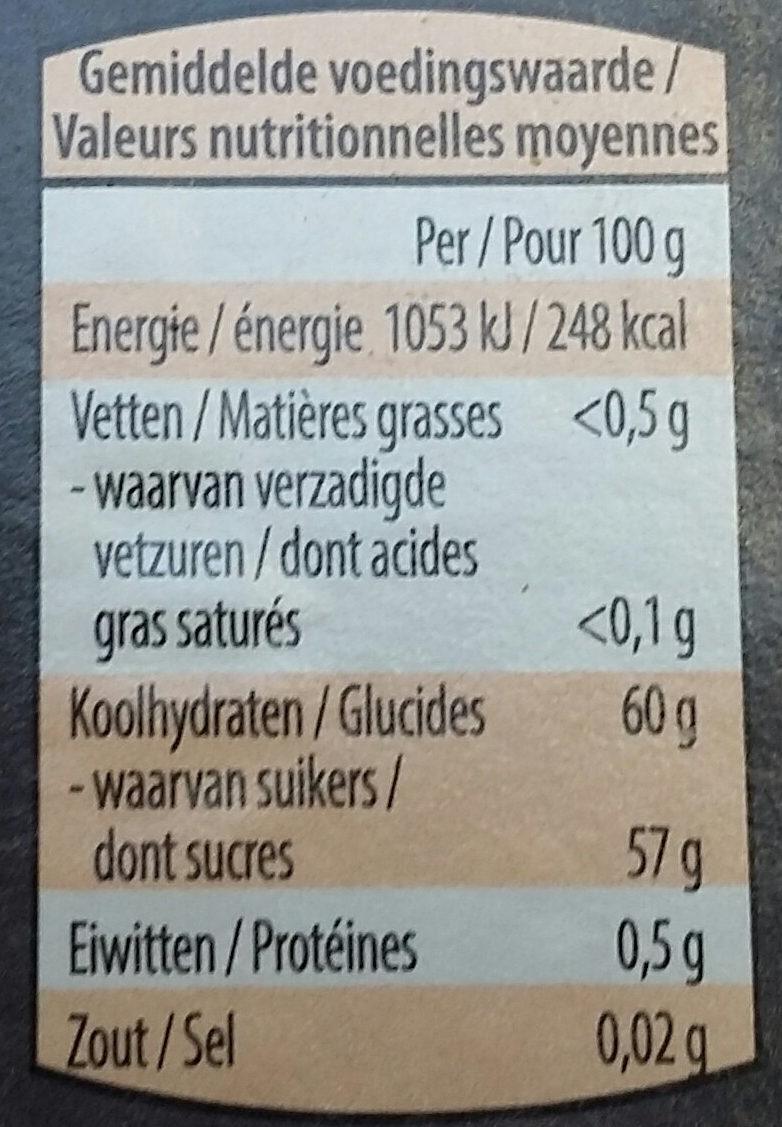 Confiture - Voedingswaarden - fr