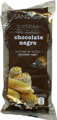 "Tortitas de maíz con chocolate negro ""Sanoform"" - Produit"
