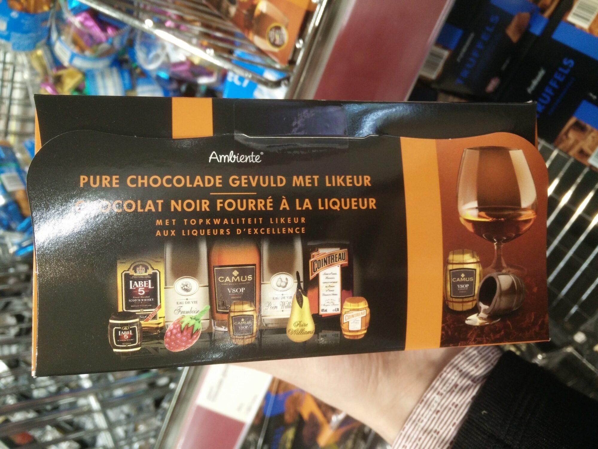 Chocolat noir fourré a la liqueur - Product - es