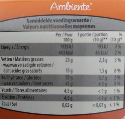 Chocolat noir fourré a la liqueur - Voedingswaarden - es