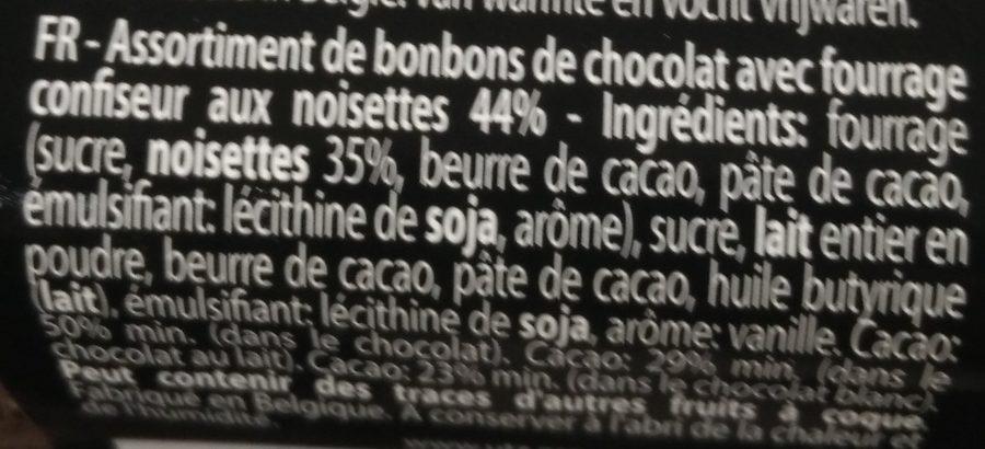 Chocolat fourré aux noisettes - Ingrediënten