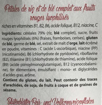 Wellness Flakes - Ingredients - fr