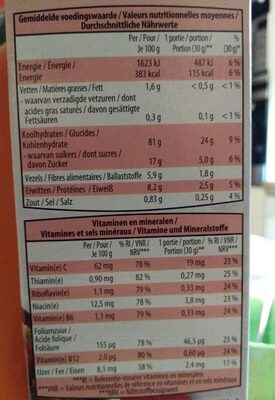 Wellness Flakes - Nutrition facts - fr